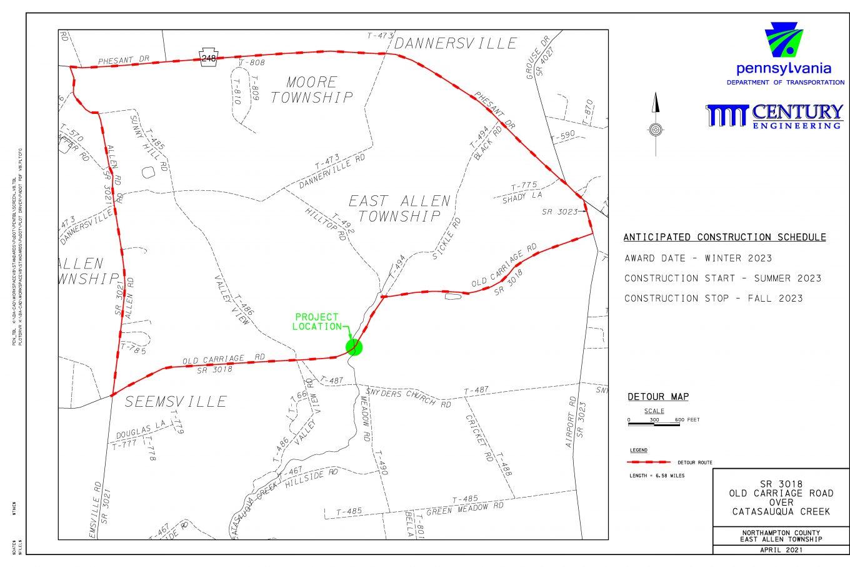 Century Engineering SR 3018 Detour Sheet