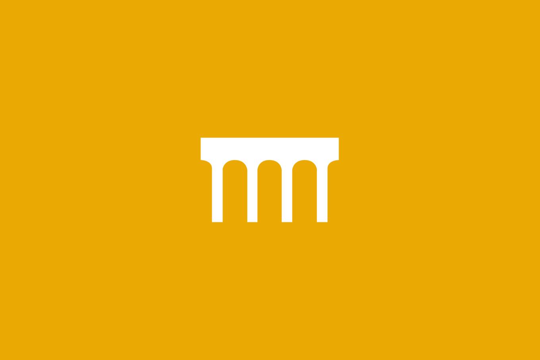 Logo on yellow background
